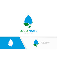 Ecological water drop delivery logo combination vector