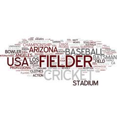 Fielder word cloud concept vector