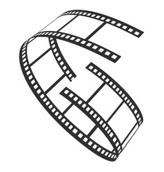 film reel icon television and production strip vector image