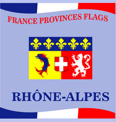 Flag of french province phone alpes vector