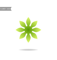 flower floral logo flat icon object on a white vector image