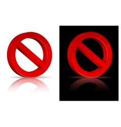 Forbidden sign vector