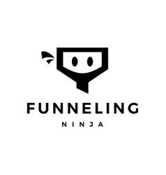 funneling ninja logo icon vector image