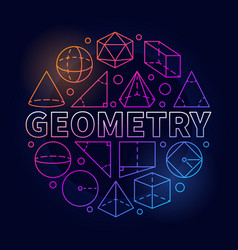 Geometry round colorful vector