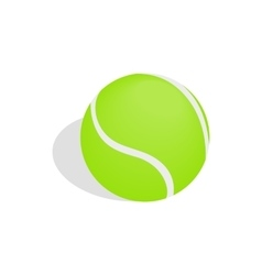 Green tennis ball icon isometric 3d style vector image