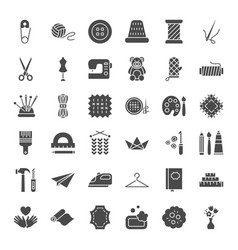 Handmade solid web icons vector