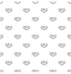 Handshake ice hockey pattern seamless vector