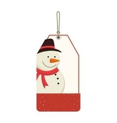 happy merry christmas snowman card vector image