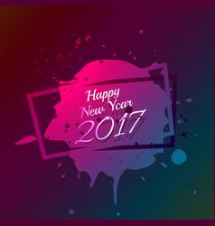 Happy new year text written on ink splatter vector