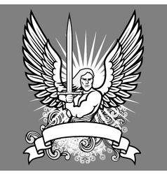 Heraldic angel vector