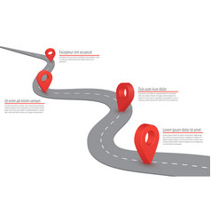 Highway road infographic road with gps vector