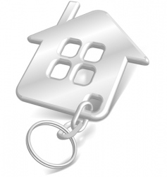 house key chain vector image