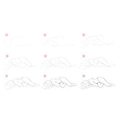 How to draw step-wise imaginary figure young vector