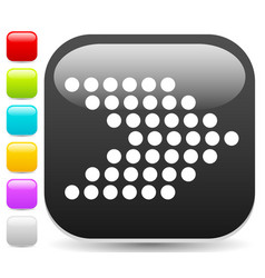 Icon button with dotted arrow symbol right arrow vector