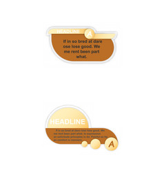 infographics template four options with paper vector image