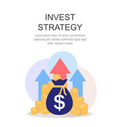 Invest strategy concept flat background vector