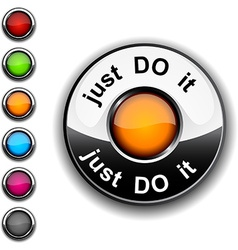 Just do it button vector