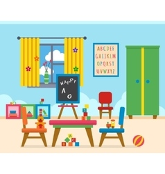 Kindergarten preschool playground vector