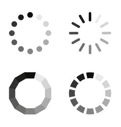 loading icons on a white background in flat style vector image