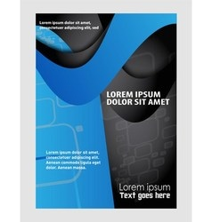 Magazine flyer brochure and cover layout design vector