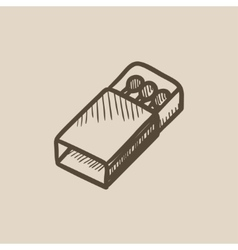 Matchbox sketch icon vector image