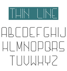 Modern design font alphabet of thin line letter vector image