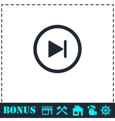 Next track icon flat vector
