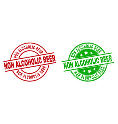 Non alcoholic beer round watermarks using corroded vector