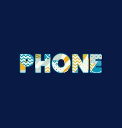 Phone concept word art vector