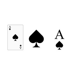 playing card ace spades for printing vector image