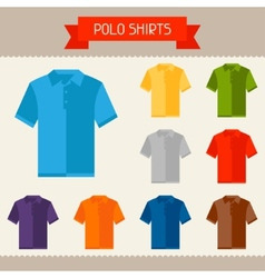 Polo shirts colored templates for your design vector