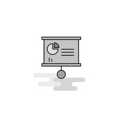 presentation chart web icon flat line filled gray vector image