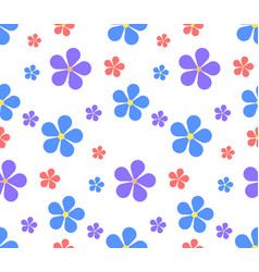 seamless texture with flowers on a white vector image