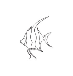 Single continuous line drawing adorable vector