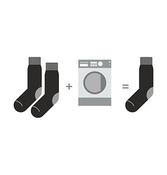 Socks and a washing machine Riddle where you lose vector