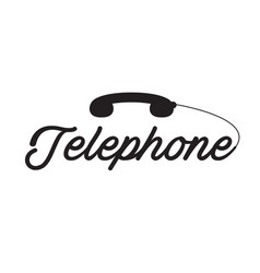 telephone black phone white background imag vector image