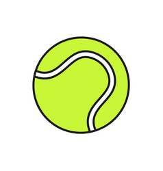 tennis ball icon on white background vector image
