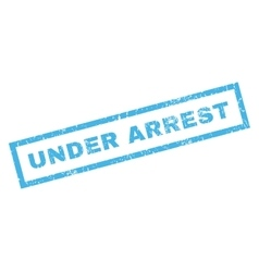 Under Arrest Rubber Stamp vector image