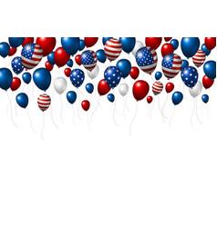 Usa or america balloon design american flag vector