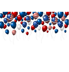 usa or america balloon design of american flag vector image