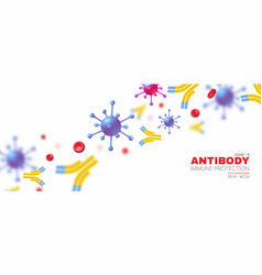 Virus blood and antibody healthcare 3d design vector