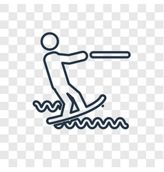 water sport concept linear icon isolated on vector image