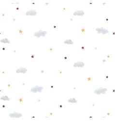 Watercolor sky pattern vector