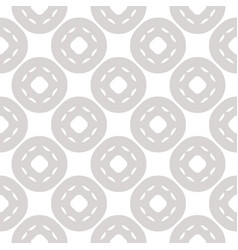 White and gray subtle geometric seamless pattern vector