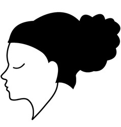 Abstract woman portrait vector image vector image