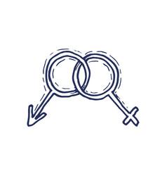 gender symbol symbols of men and women vector image