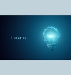 innovation concept lightbulb in modern polygonal vector image vector image