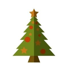 merry christmas tree isolated icon vector image vector image