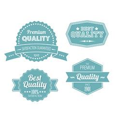 Old blue retro vintage labels vector image vector image