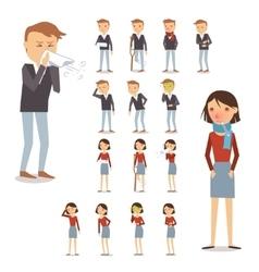 Sick People Set vector image vector image